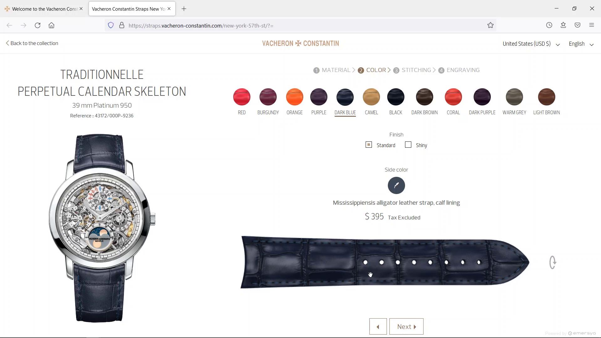 Preview image of Vacheron Constantin 3D Watch Strap Customization