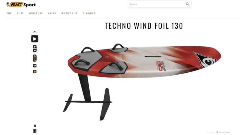 BIC Sport Windsurf Foils with Interactive 3D animation